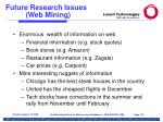 future research issues web mining