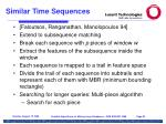 similar time sequences87