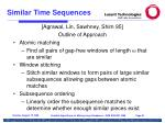 similar time sequences91