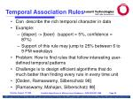 temporal association rules