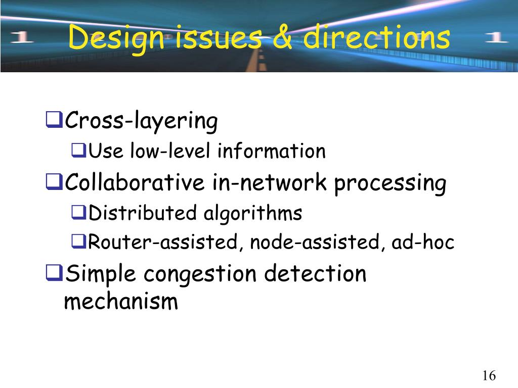 Design issues & directions