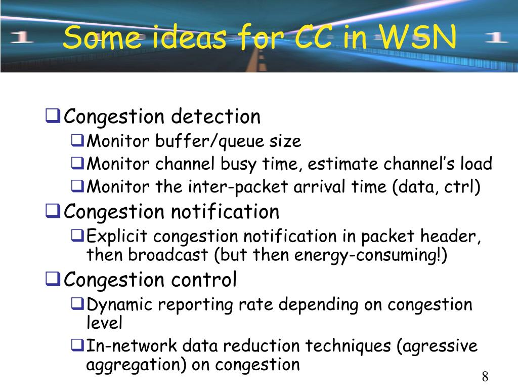 Some ideas for CC in WSN