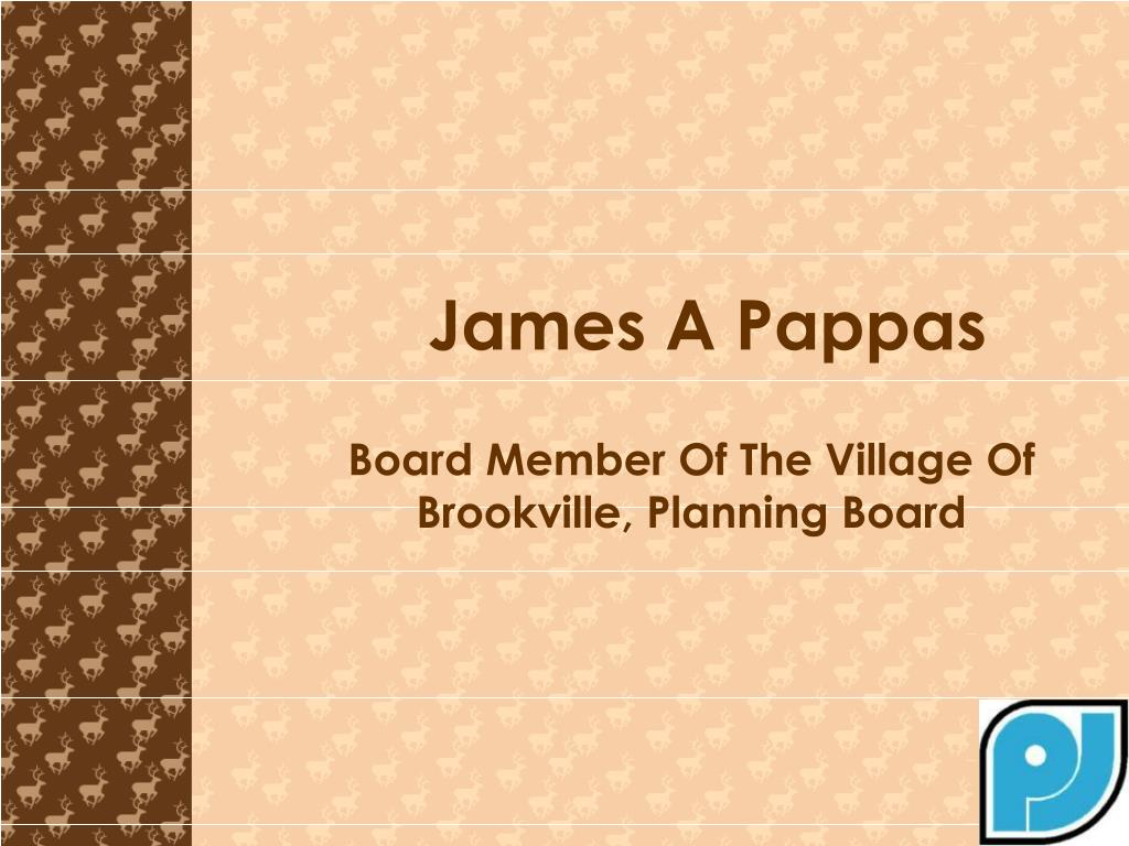 Board Member Of The Village Of Brookville, Planning Board