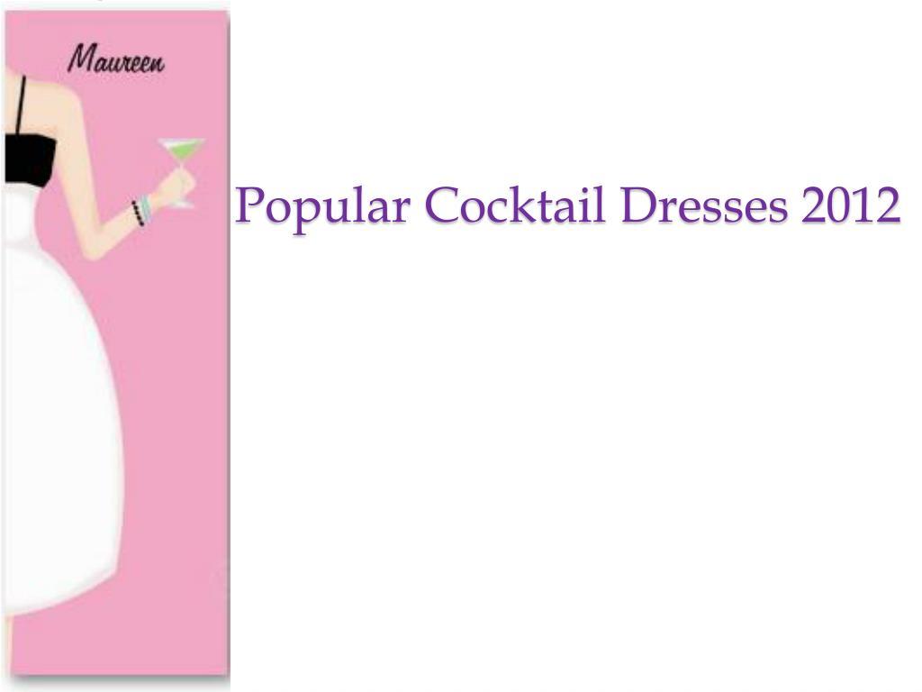 popular cocktail dresses 2012 l.