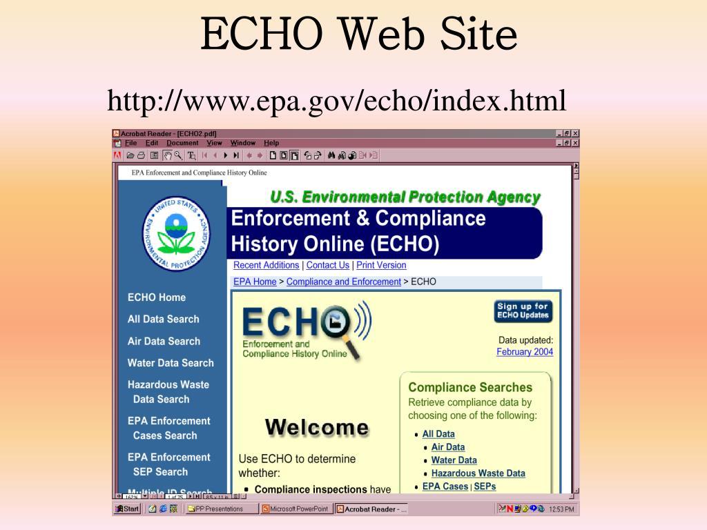 ECHO Web Site