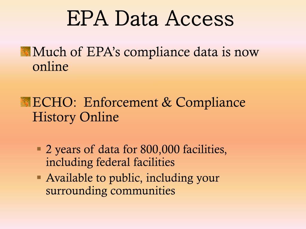EPA Data Access