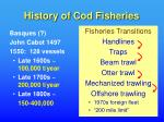 history of cod fisheries