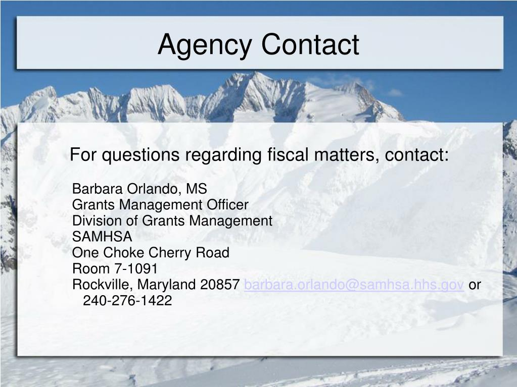 Agency Contact