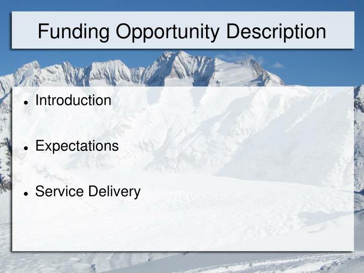 Funding opportunity description