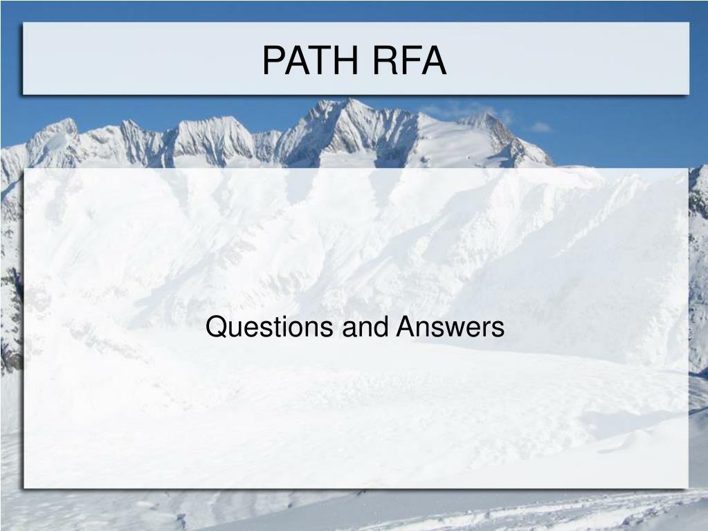 PATH RFA