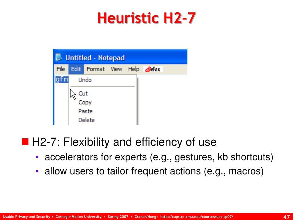 Heuristic H2-7