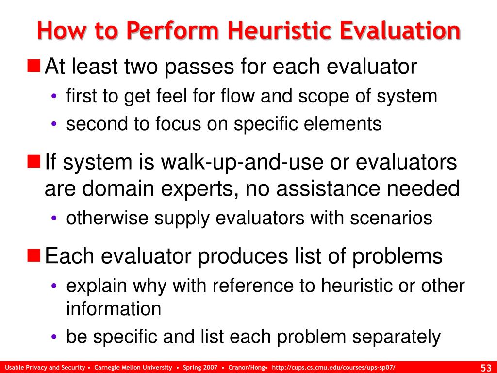 How to Perform Heuristic Evaluation
