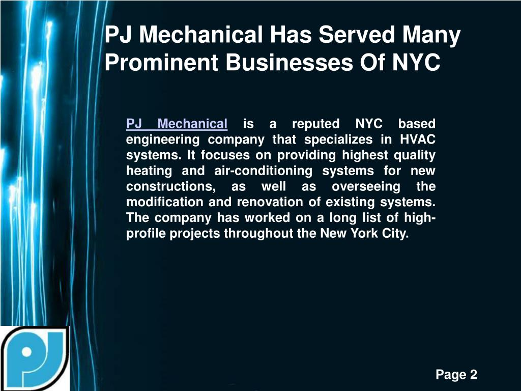 PJ Mechanical Has Served Many Prominent Businesses Of NYC