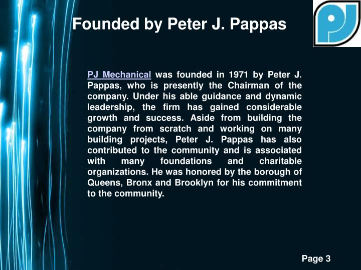Founded by Peter J. Pappas