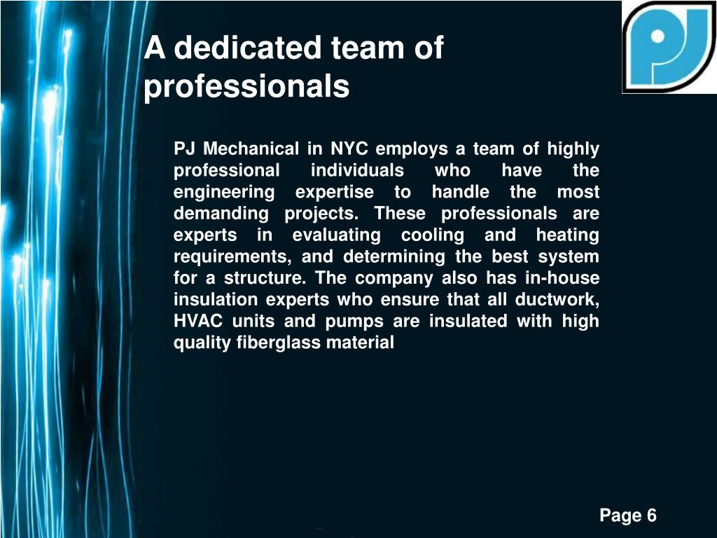 A dedicated team of professionals