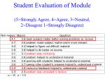 student evaluation of module 5 strongly agree 4 agree 3 neutral 2 disagree 1 strongly disagree