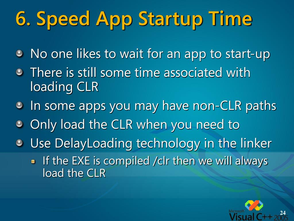 6. Speed App Startup Time