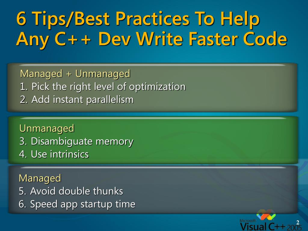 6 Tips/Best Practices To Help Any C++ Dev Write Faster Code