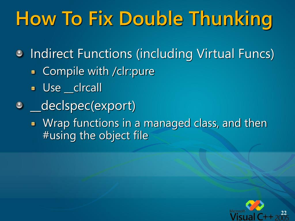 How To Fix Double Thunking