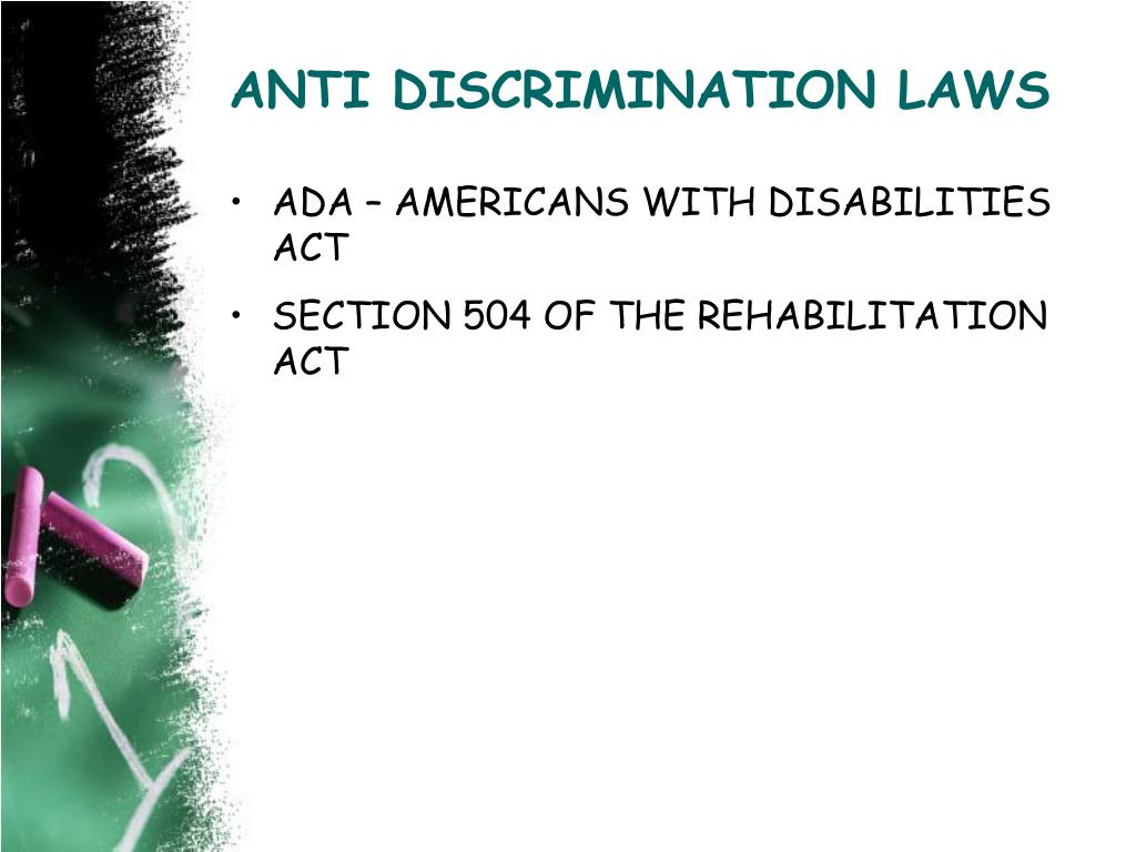 ANTI DISCRIMINATION LAWS