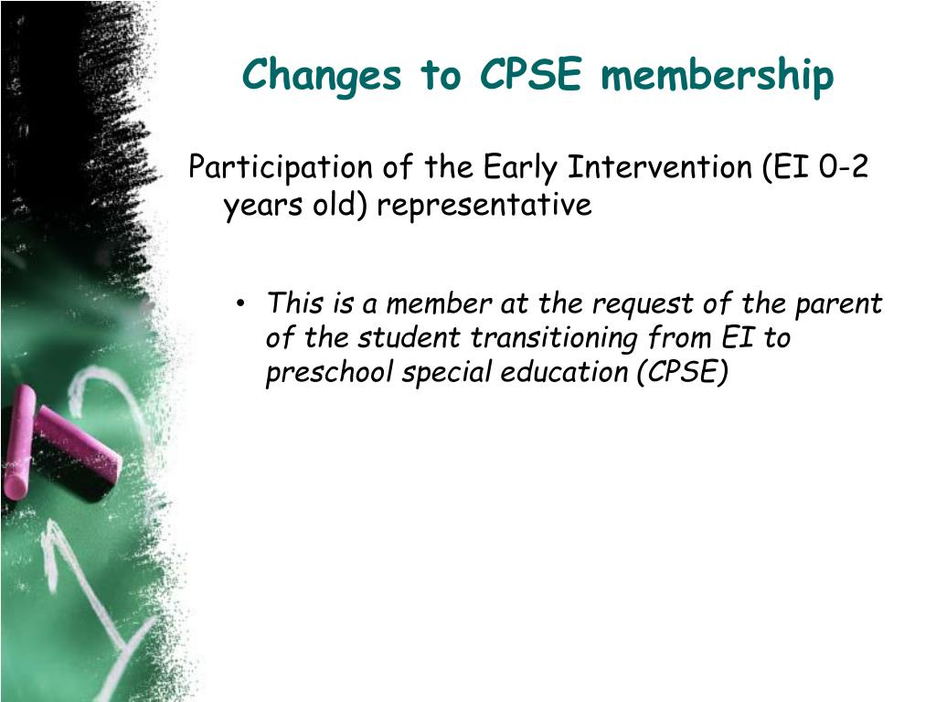 Changes to CPSE membership