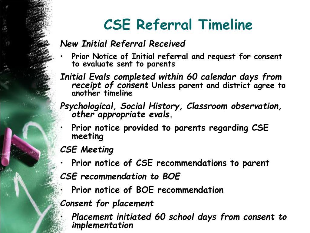 CSE Referral Timeline
