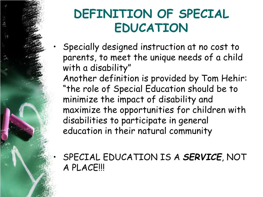 DEFINITION OF SPECIAL
