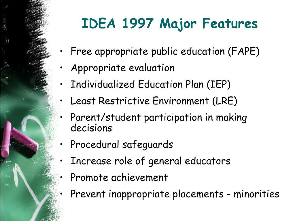 IDEA 1997 Major Features
