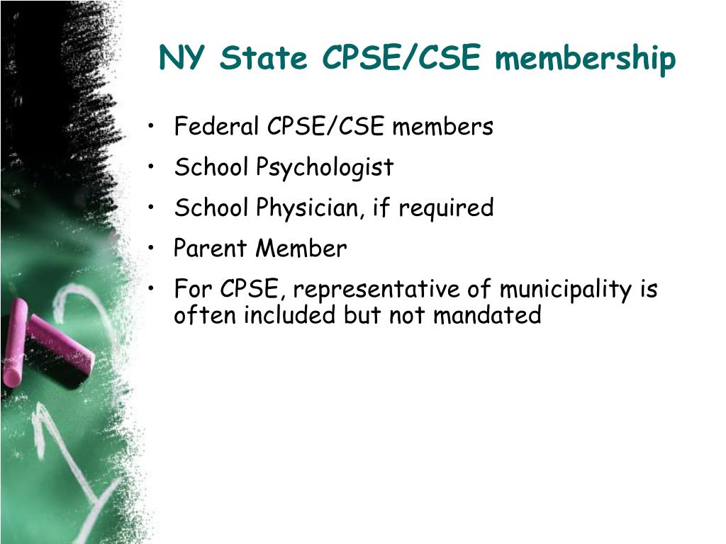 NY State CPSE/CSE membership