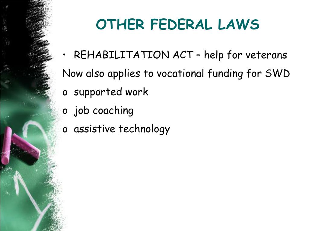 OTHER FEDERAL LAWS
