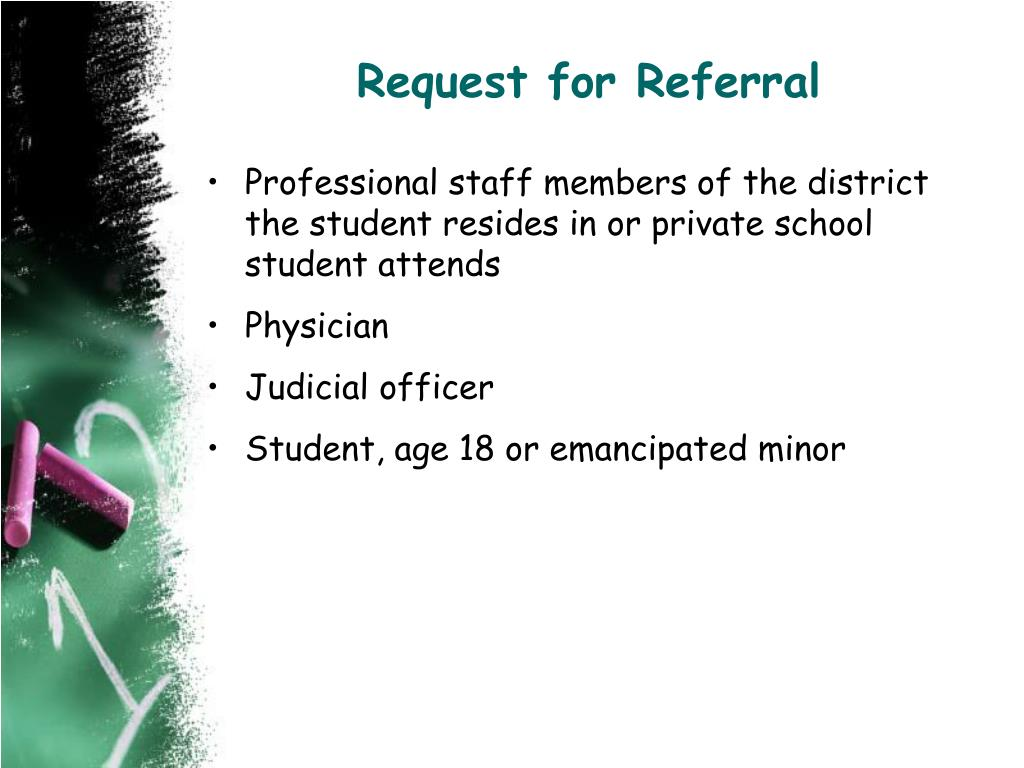 Request for Referral