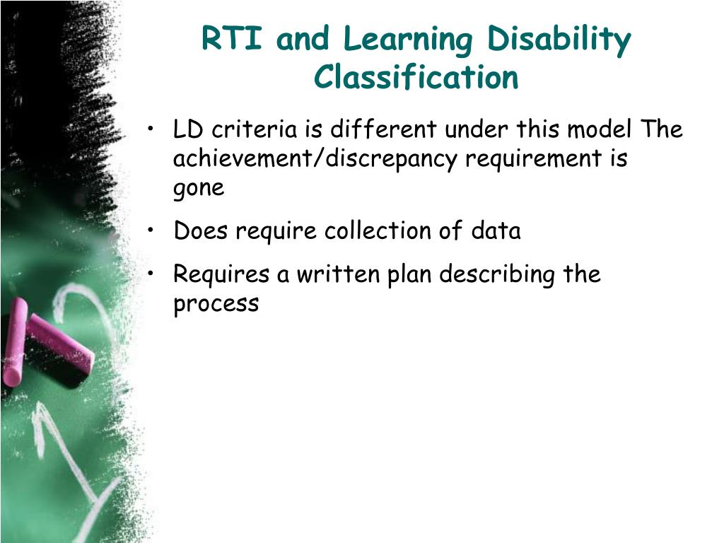 RTI and Learning Disability Classification