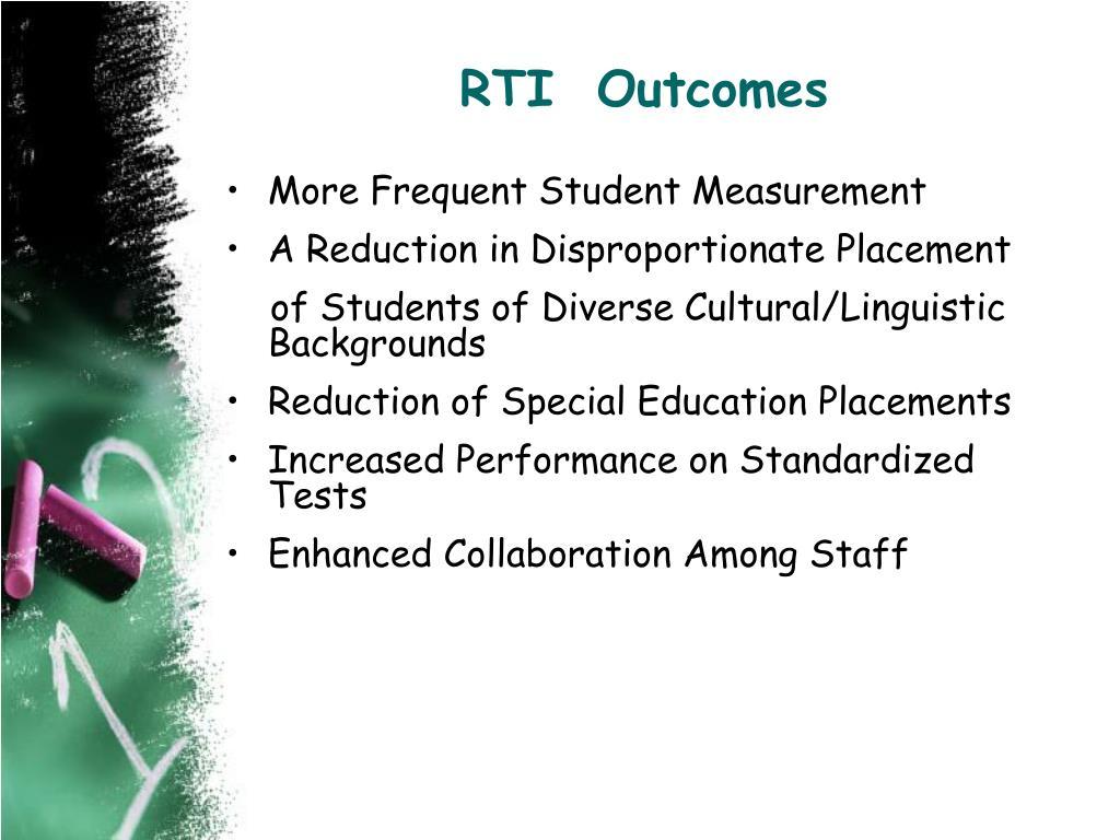 RTI  Outcomes