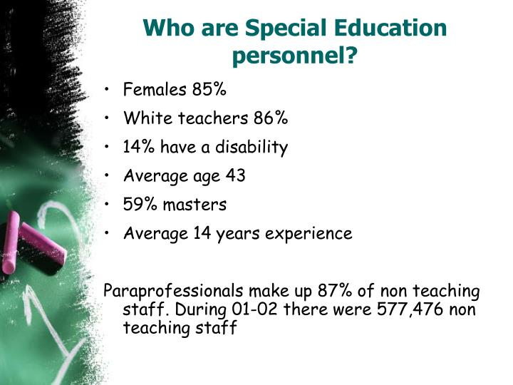 Who are special education personnel