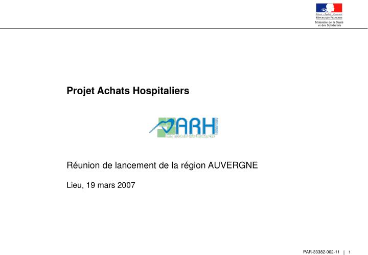 Projet Achats Hospitaliers
