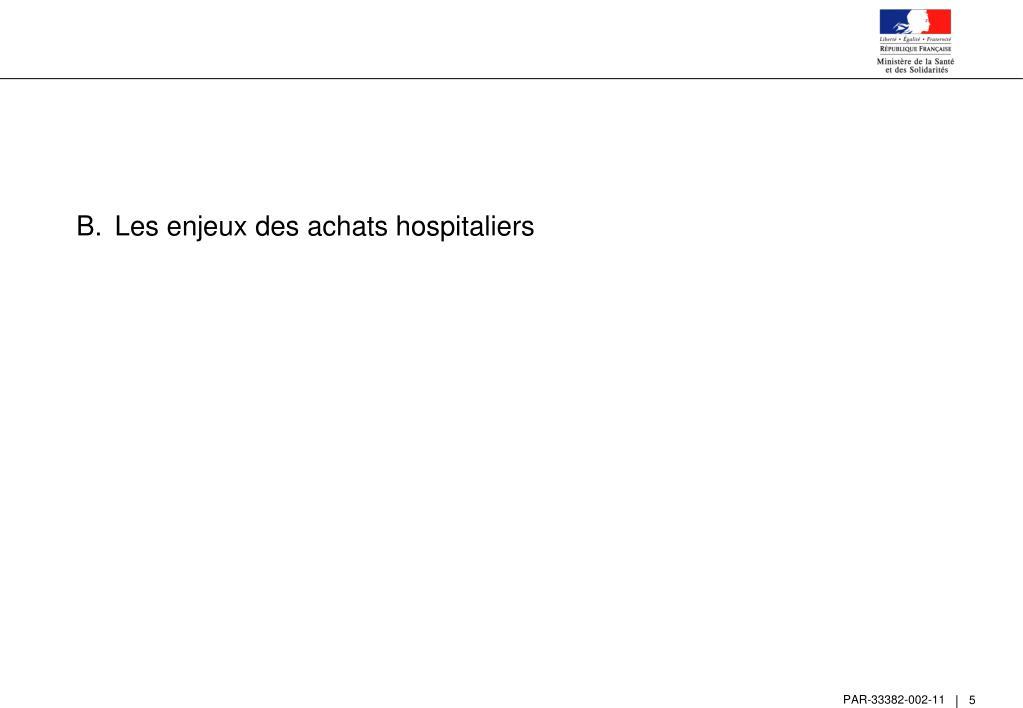 Les enjeux des achats hospitaliers