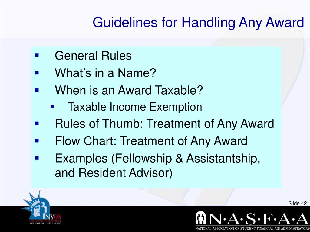 Guidelines for Handling Any Award