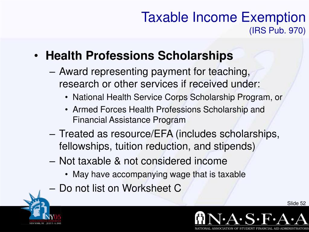 Taxable Income Exemption