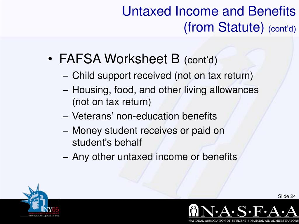 Untaxed Income and Benefits