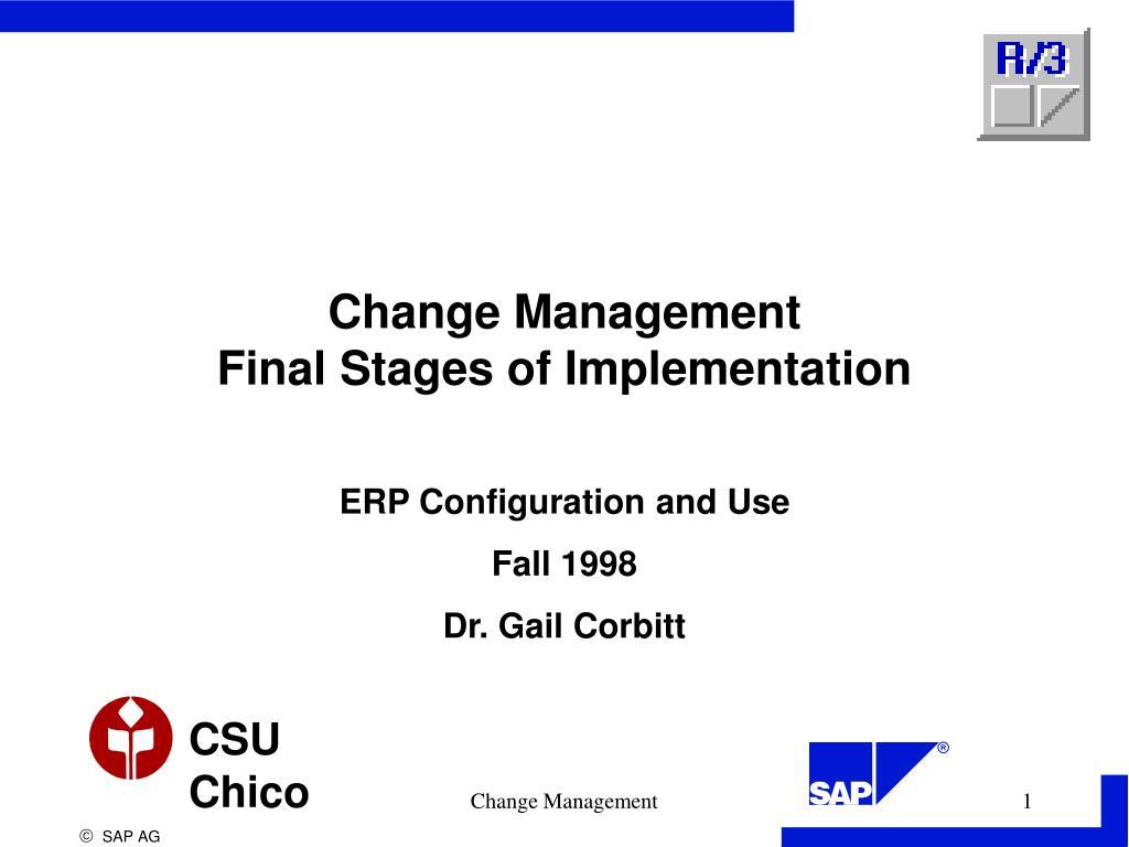 change management final stages of implementation l.