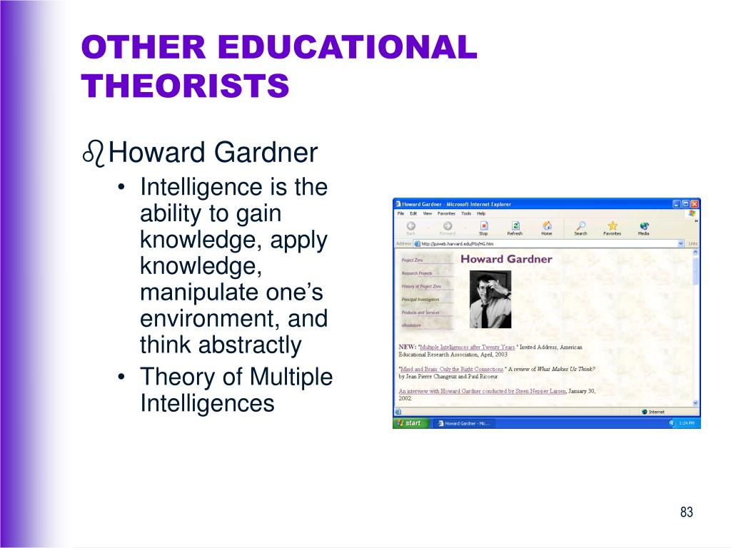 OTHER EDUCATIONAL THEORISTS