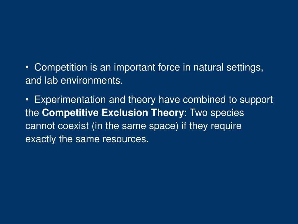 Competition is an important force in natural settings, and lab environments.