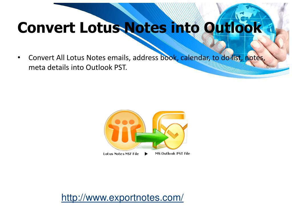 Convert Lotus Notes into Outlook