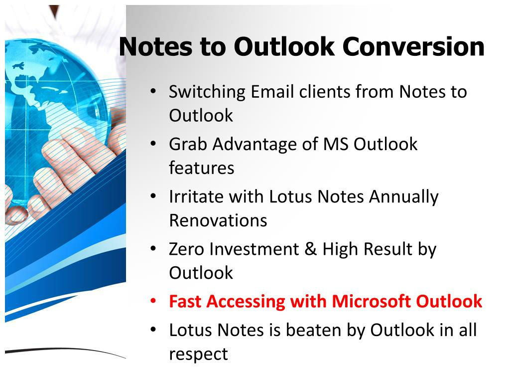Notes to Outlook Conversion