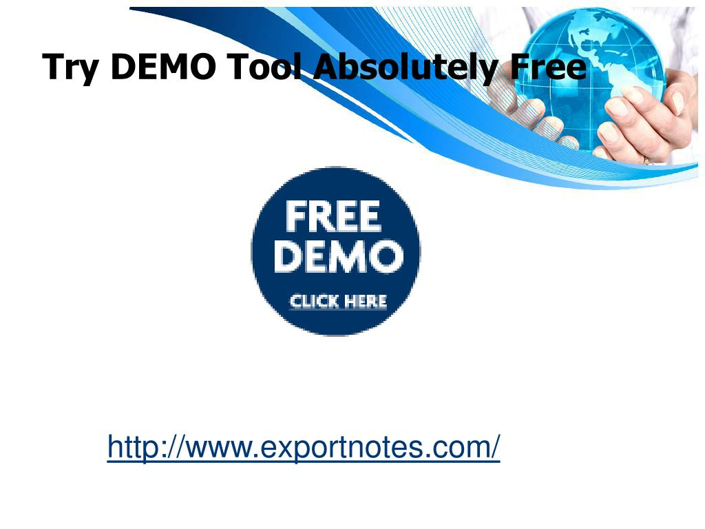 Try DEMO Tool Absolutely Free
