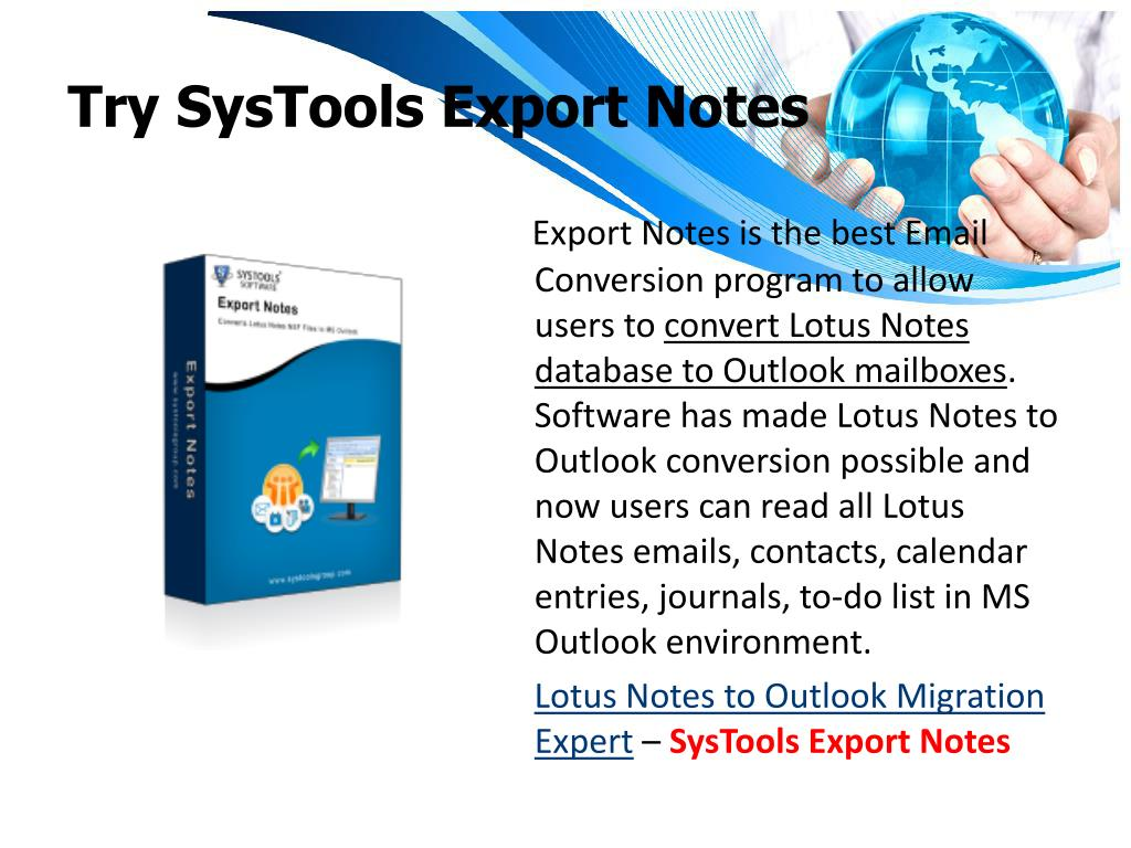 Try SysTools Export Notes