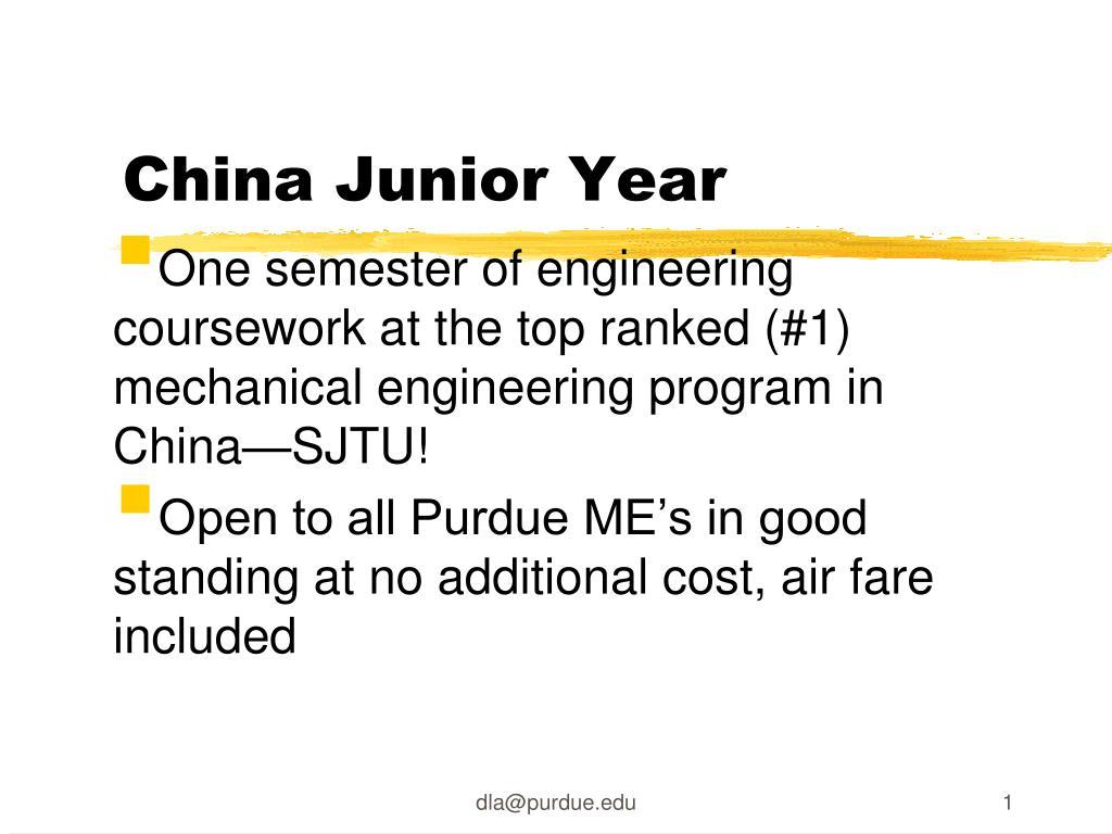 China Junior Year