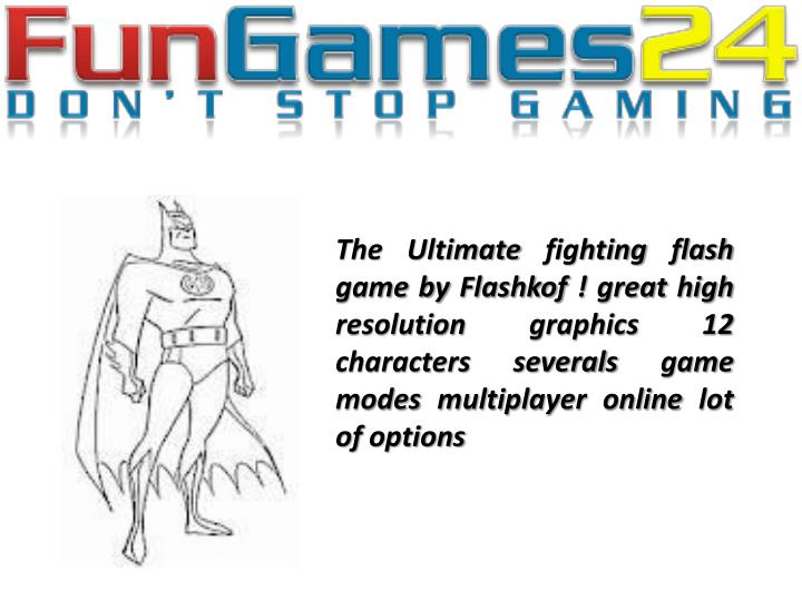 The Ultimate fighting flash game by