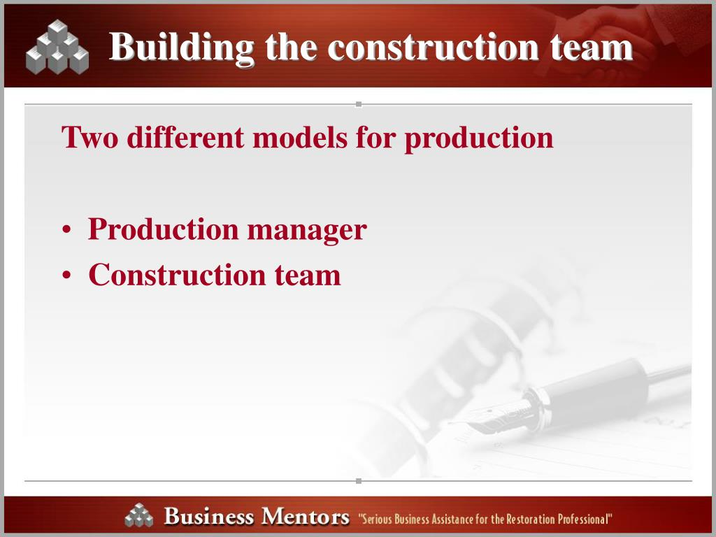 Building the construction team