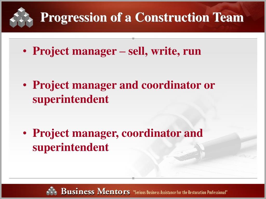 Progression of a Construction Team